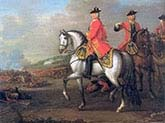 King George two at the Battle of Dettingen with the Duke of Cumberland
