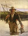 Fisherman Carrying the Crayfish