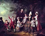 Family Group in Landscape